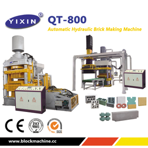 QT10-15 Concrete Hydraulic Press Brick Machine